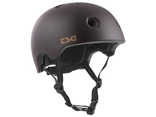 TSG Erwachsene Meta Solid Color Helm, Satin Black Chocolate, L/XL 58 Chocolate Mold