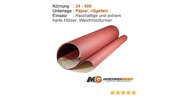 Holz 3 Gewebe Schleifb/änder f/ür Metall Made in Germany Lack 150 x 1220 mm Korn 320