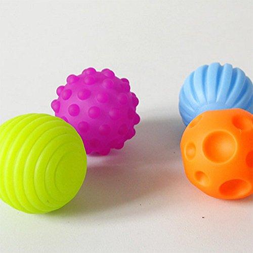 Atommy 4Pcs Mano toque la bola percepción suave pelota bola bola BB juguetes para bebés