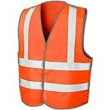 Budget haute visibilité visibilité réfléchissant haute visibilité Gilet fluo–Orange