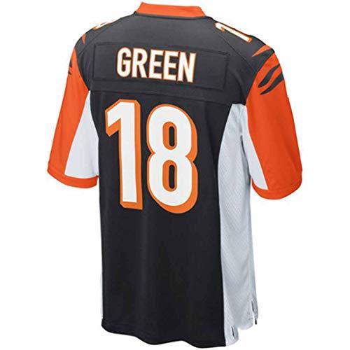 YMXBK NFL Jersey Cincinnati Bengals Fans Version der Stickerei Football Wear Kurzarm Sport Top T-Shirt,18-Black,XL
