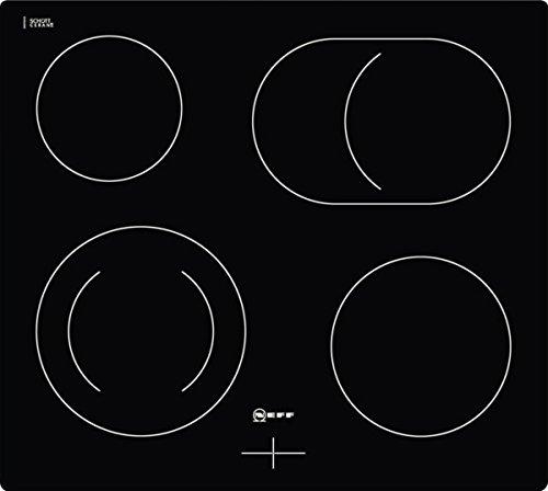 Neff M15R42X2 Kochfeld Elektro/Ceran/Glaskeramik / 57,2 cm / 4 HighSpeed-Heizkörper/schwarz