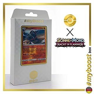 Rihornior 67/147 Wendbare Holo #myboost X Sonne & Mond 3 Nacht in Flammen - Box mit 10 Deutsche Pokémon-Karten