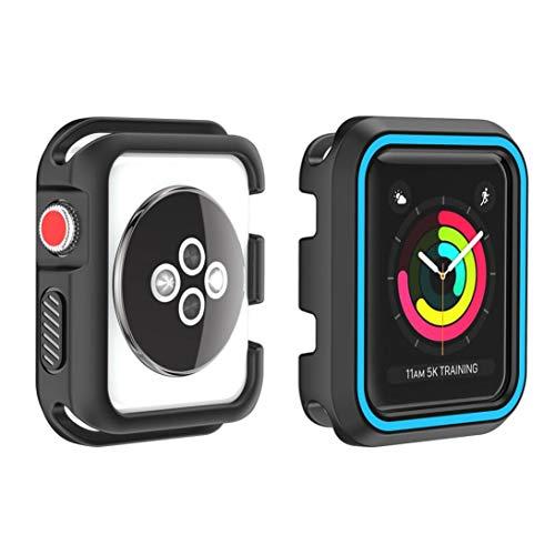 Ouneed Für Apple Watch Series 1/2/3 42mm Hülle, Robuste Rüstung Bumper Resilient Shock Absorption Protected Case Cover for Apple Watch Series 1/2/3 42mm (J) Rüstung Series Case
