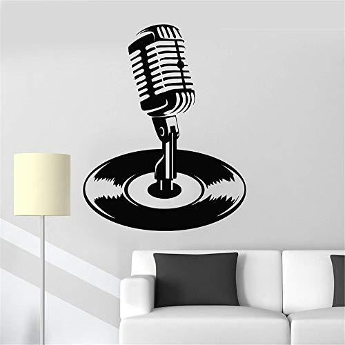 rofon Schallplatte Karaoke Musik Musik Aufkleber Home Schlafzimmer Art Design Dekoration rot 42x50cm ()