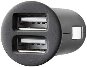 KFZ Ladegerät Mini Universal Dual USB 12V inkl. 1 x Lade/Sync Kabel für iPod/iPhone und Navi's, Smartphones und weitere Geräte, 2 x 1000 mA