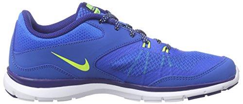 Nike Flex Trainer 5, Chaussures de Running Femme Soar/Volt/Deep Royal Blue/White