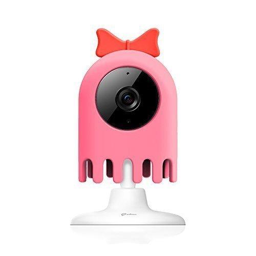 1*Misafes Intelligente Camera 360 Foto Rotazione Micam Wi-Fi Videosorveglianza Monitor Remoto Telecamere Di Sicurezza Per Il Bambino Casa Animali Con Qualità Hd Video A 720p 120 Gradi Vista Per Iphone Ipad Samsung Htc Lg Sony Google Nexus Rosa