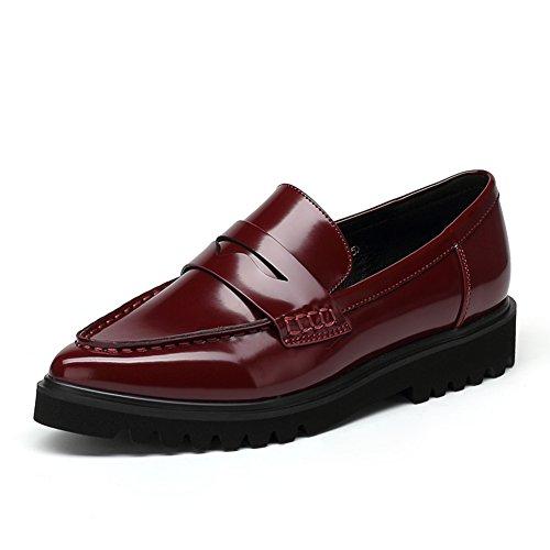 Tombent dans la Korean version d'asakuchi pointé shoes/Portefeulilles en cuir pour casual chaussures plates B