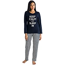 Nite Flite Women's Keep Calm Cotton Pyjama Set