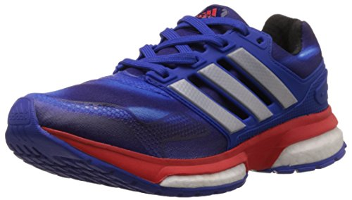 adidas Unisex Response Boost 2 Tf Ltd J Bold Blue, Silver Metal and Red Sneakers - 4 UK