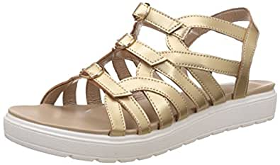 Red Pout Women's Gold Fashion Sandals - 3 UK/India (36 EU)(FOFWSS16121)