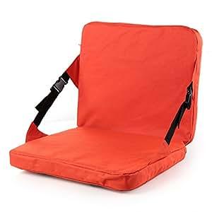 Chaise Pliable Siège Pliant Coussin Portable pour Pique-nique Camping Voyage Festival - Rouge