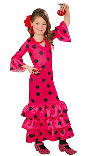 Spanische Flamenco Tänzerin - Kostüm für Mädchen Gr. 110 - 146, Größe:128/134
