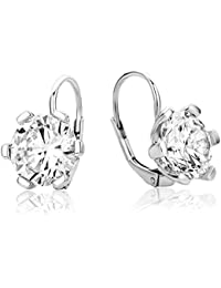 Miore Damen-Ohrhänger 925 Sterling Silber Zirkonia
