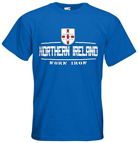 Nordirland Northern Ireland Fanshirt T-Shirt Länder-Shirt im modernen Look Royalblau