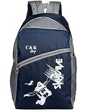 Chris & Kate BlueGray Spacious Comfortable Casual Backpack