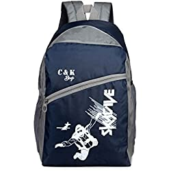 Chris & Kate Polyester 26 Ltr Navy Blue-White School Backpacks