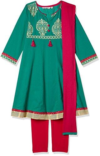 Karigari Girls' Straight Regular Fit Salwar Suit (274639768_Assorted_05Y)