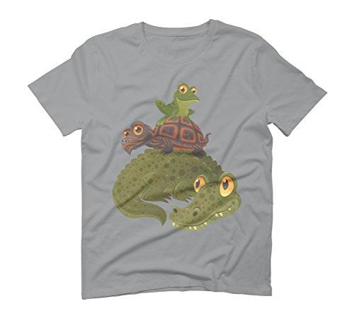 Swamp Squad Men's Graphic T-Shirt - Design By Humans Opal
