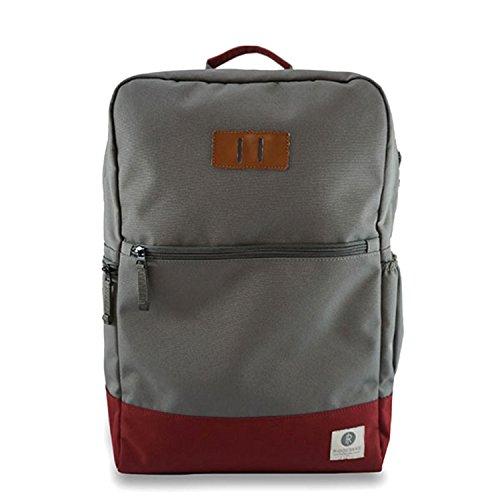 Ridgebake Zaino Neville Charcoal/Maroon grigio marrone rosso Backpack