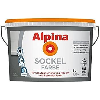 Alpina 5 L Sockelfarbe Abrieb Und Reinigungsfähig Speziell Für