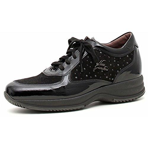 Nero Giardini Sneaker Donna Vernice/Camoscio A309670D Naplak Nero