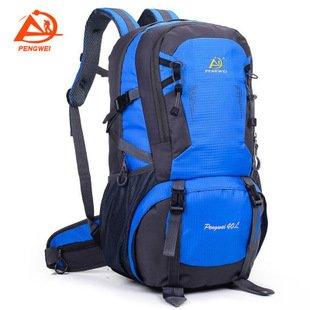 Zaino da escursionismo, 40l campeggio zaino/zaino da viaggio/trekking zaini/zaino casual zaino borsa per sport all' aria aperta arrampicata Mountaineer, Blue Blue