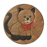 Oriental Galerie Kindertisch Spieltisch für Kinder Katze ca. 50cm Durchmesser & 45cm Höhe Natur Braun Limboholz Holz