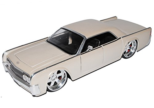 ncoln Continental 1963 Beige Coupe 1/24 Modell Auto ()