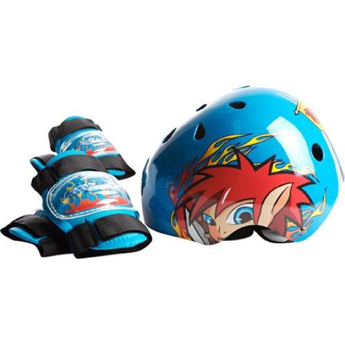 Lang Japan (RANGS) KIDZAMO (Kizzamo) helmet & Protector Set Boys (Coby) Coby (japan import)