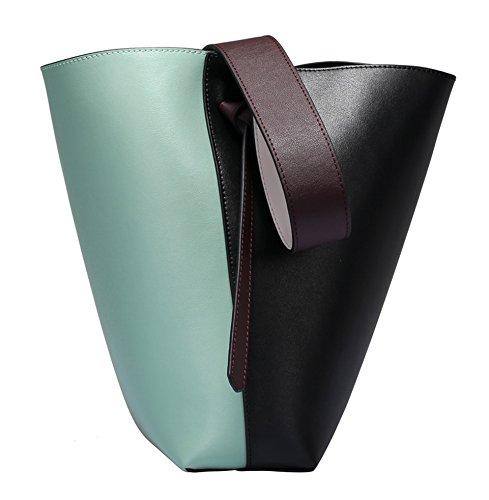 Tibes style occidental sac à main en cuir véritable concepteur sac à main Vert clair