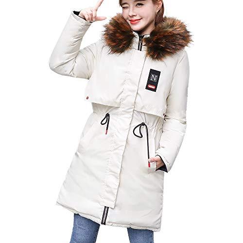 TianWlio Damen Mäntel Frauen Winter Warme Mantel Kunstpelz Kapuze Dicke Warme Dünne Jacke Langen Mantel