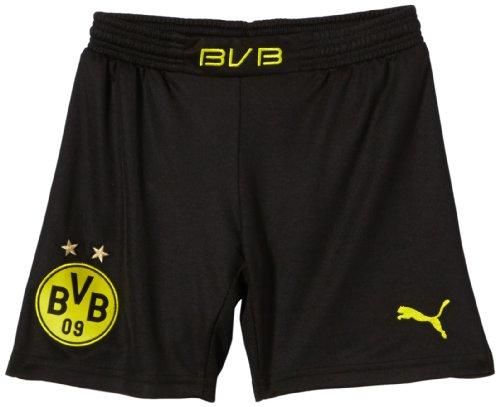 PUMA Kinder BVB Kids Home Replica Shorts, Black/Blazing Yellow, 176
