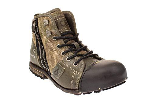 YELLOW CAB Herrenschuhe - Boots INDUSTRIAL 15458 - moss, Moss, 44 EU