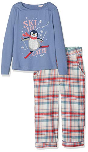 Fat Face Mädchen Penguin Check Zweiteiliger Schlafanzug, Rot (Red), 4-5 Jahre (Penguin-schlafanzug - Für Mädchen)