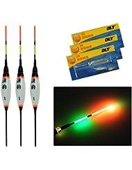 3Pcs/Lot électronique LED flotteurs, flottabilité Lac rivière Pêche à la carpe avec batterie de lumière de nuit lumineuse flottante Float