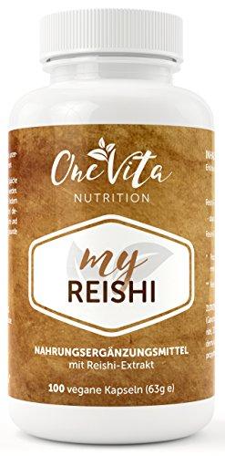 My Reishi Kapseln | 500mg Reishi Pilz Extrakt und Pulver | Vitalpilz | Ling Zhi | Ganoderma Lucidum | 100 Kapseln (Pilz Pulver Bio)