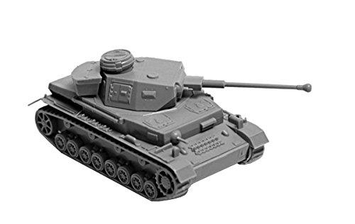 ZVESDA Pz.Kpfw. IV Ausf.F2 Medium Tank 1:100 Snap Fit Model Kit Medium-snap
