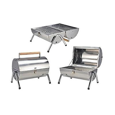 Haushalt International - Picknick Grill aus Edelstahl - 1St