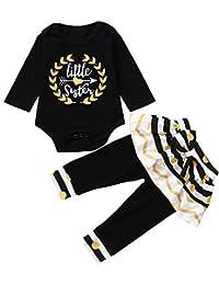 SamMoSon ☀☀Conjuntos De Ropa para Bebés Niño,Pantalones De Rayas A Rayas con Estampado De Lunares De Manga Larga para Bebés Infantiles