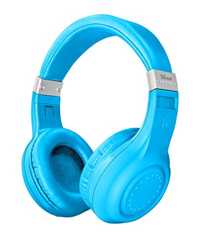 Trust Urban Dura Cuffie Wireless Bluetooth, Blu