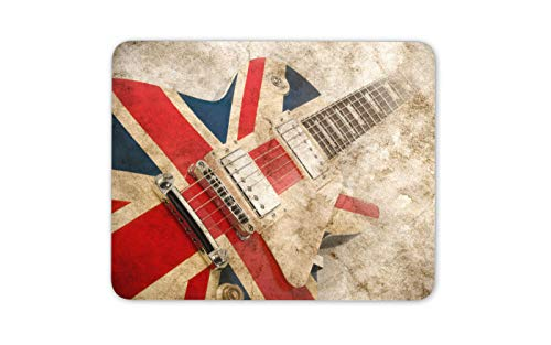 Brit Pop Rock-Gitarre Mauspad Pad - Great British Musik Computer-Geschenk # 16066