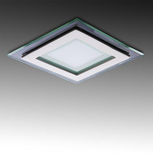 Greenice | Foco Downlight LED Cuadrado con Cristal 95X95Mm 6W 450Lm 30.000H...