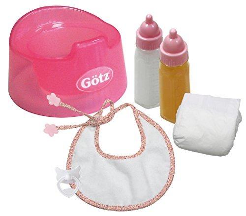 Gotz Basic Care Potty Training Set for Baby Dolls (6 pieces) by Gotz