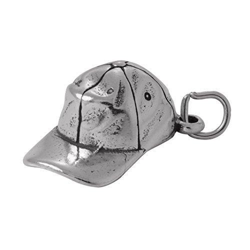 Charme Sterling Softball Silber (TheCharmWorks Sterling Silber Baseball Cap Charm | Baseballmütze Baseballkappe)