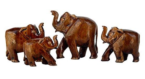 Rastogi artesanías de madera familia de elefantes de 4regalos elefante con aspecto...