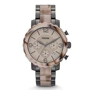 Fossil Damen-Armbanduhr Natalie Bicolor Chronograph Quarz JR1383