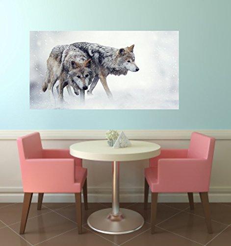 Magnettafel Aufkleber Wolf passend für IKEA Spontan