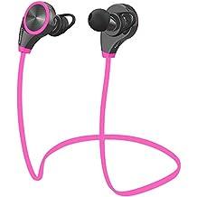 LOBKIN Bluetooth 4.0 Auriculares Deportivos Estereo Ideales para Gimnasio y Haver Ejercicio, con Manos Libres
